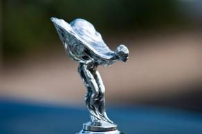 The Spirit of Ecstasy, windblown and free!
